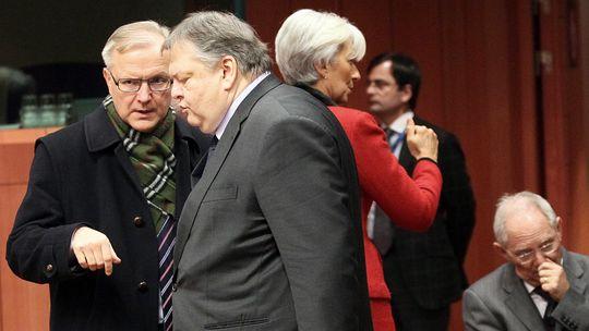 Der griechische Finanzminister Evangelos Venizelos in Brüssel